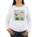 Christmas Birds Women's Long Sleeve T-Shirt