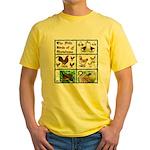 Christmas Birds Yellow T-Shirt