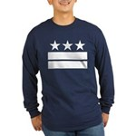 3 Stars 2 Bars Long Sleeve Dark T-Shirt