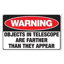 Astro-Warning Rectangle Bumper Stickers