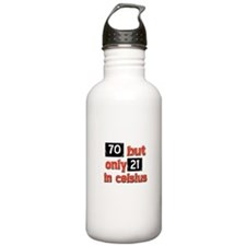 70 year old designs Sports Water Bottle
