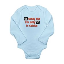 96 year old designs Long Sleeve Infant Bodysuit