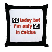 96 year old designs Throw Pillow