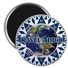 Travel Addict Compass Magnet