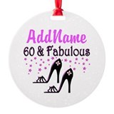 60 & A SHOE QUEEN Ornament