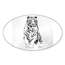 Stately White Tiger Decal