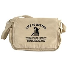 Brazilian Jiu Jitsu Vector designs Messenger Bag