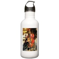 Violin in Abstract Artwork Design Water Bottle