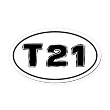 Trisomy 21 (Down Syndrome) Awareness Car Oval Car
