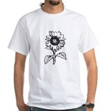 gray scale sunflower.jpg T-Shirt