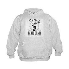 elk plain taxidermy logo Hoodie