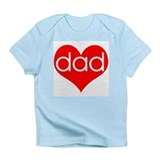 Cute I heart my daddy Infant T-Shirt