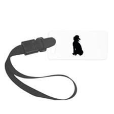 Poodle Silhouette Luggage Tag
