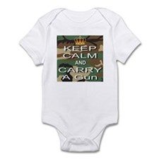 Keep Calm and Carry A Gun Infant Bodysuit