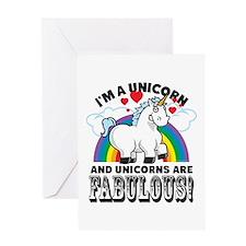 Unicorns Are Fabulous Greeting Card