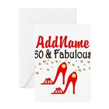 60 & FABULOUS Greeting Card