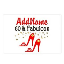 60 & FABULOUS Postcards (Package of 8)