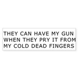 Cold Dead Fingers Bumper Car Sticker