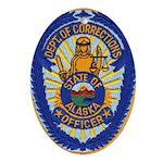 Alaska Corrections Oval Ornament