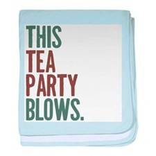 this tea party blows. baby blanket