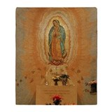 Virgin mary throw blanket Fleece Blankets