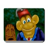 Tiki And Fez Chimp Calendar Mousepad