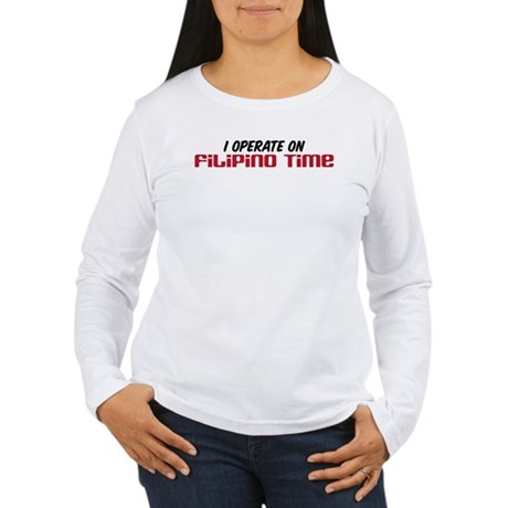 Filipino Time Women's Long Sleeve T-Shirt