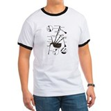 White Bagpipe Anatomy T-Shirt