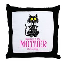 MOTHER'S DAY CAT Throw Pillow