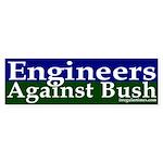 Engineers Against Bush Bumper Sticker