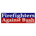 Firefighters Against Bush Sticker (Bumpe