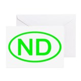 ND Oval - North Dakota Greeting Cards (Package of