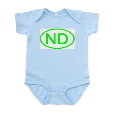 ND Oval - North Dakota Infant Bodysuit