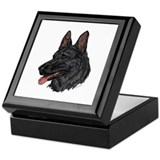 Black German Sheperd Keepsake Box