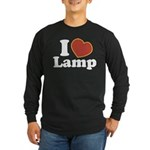 I Love Lamp Long Sleeve Dark T-Shirt