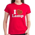 I Love Lamp Women's Dark T-Shirt