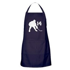 Hockey Player Number 14 Apron (dark)