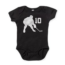Hockey Player Number 10 Baby Bodysuit