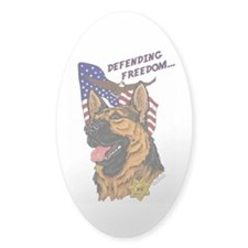 German Shepherd K-9 Oval Sticker #1