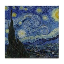 Vincent Van Gogh Starry Night Tile Coaster
