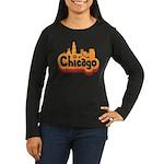 Retro Chicago Women's Long Sleeve Dark T-Shirt