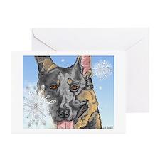 German Shepherd Christmas Cards #1 (Pk of 10)