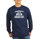 Property of an Asian Girl Long Sleeve Dark T-Shirt