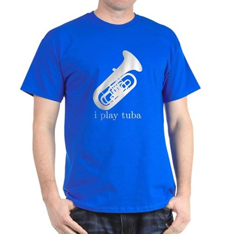 I Play Tuba Dark T-Shirt