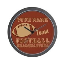 Custom Football Wall Clock