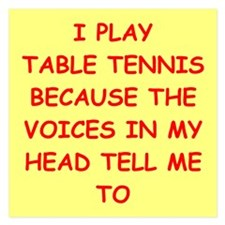 table tennis Invitations