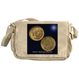 Booker T Washington Coin Messenger Bag