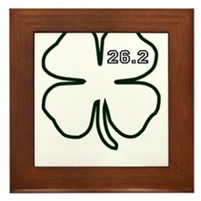 Dark green Marathon Shamrock 2 Framed Tile