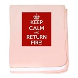 Keep Calm baby blanket