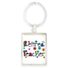 retired teacher stars flowers Keychains
